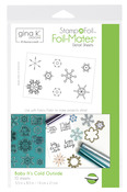 Gina K. Designs StampnFoil Foil-Mates Detail Sheet, Baby it's Cold Outside.