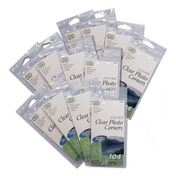 Clear Photo Corners </br>(12 packs of 104 included)
