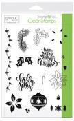 Gina K. Designs StampnFoil Stamp Set, Holly Jolly