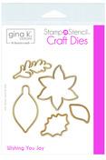 Gina K. Designs StampnStencil Die Set - Wishing You Joy