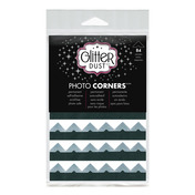 Glitter Dust Photo Corners • Silver