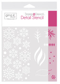 Gina K. Designs StampnStencil Detail Stencil - Wishing You Joy