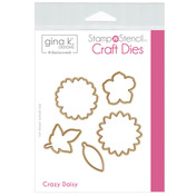 Gina K. Designs StampnStencil Die Set - Crazy Daisy