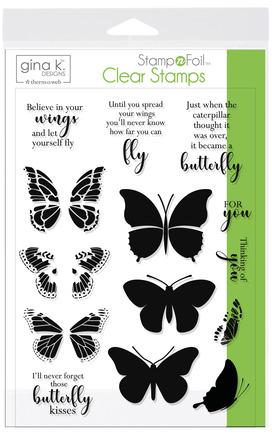 Gina K. Designs StampnFoil™ Stamp Set • Butterfly Kisses picture