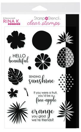 Rina K. Designs StampnStencil Stamp Set, Sending Sunshine picture
