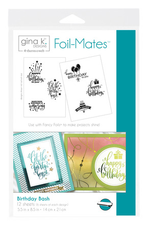 Gina K. Designs Foil-Mates™ Sentiments • Birthday Bash picture