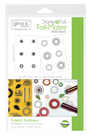 Gina K. Designs StampnFoil™ Foil-Mates Detail Sheet • Graphic Sunflowers picture
