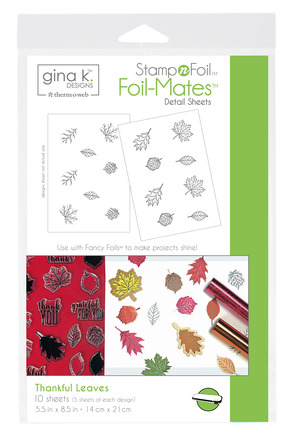 Gina K. Designs StampnFoil™ Foil-Mates Detail Sheet • Thankful Leaves picture