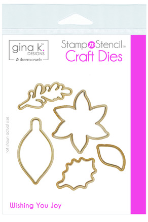 Gina K. Designs StampnStencil Die Set - Wishing You Joy picture