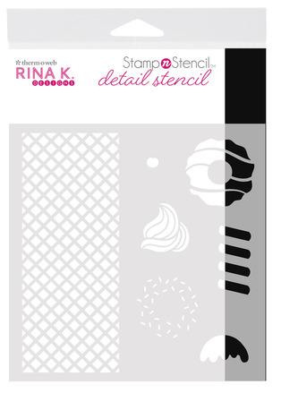 Rina K. Designs StampnStencil Detail Stencil, Sweet Stuff picture