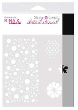 Rina K. Designs StampnStencil Detail Stencil, Sending Sunshine picture