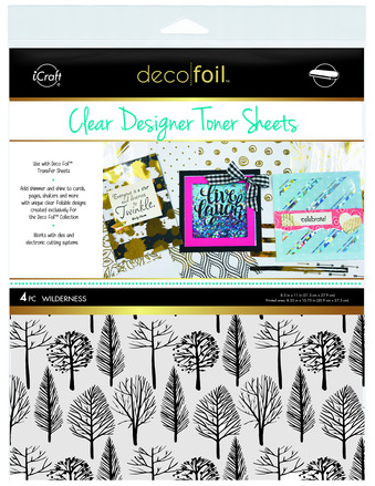Deco Foil Clear Toner Sheets - Wilderness picture