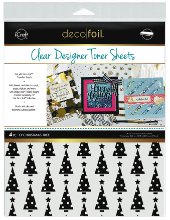 Deco Foil Clear Toner Sheets - O' Christmas Tree picture