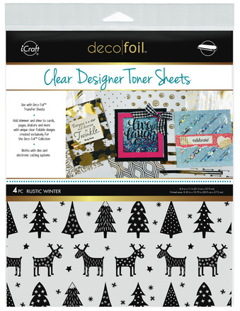 Deco Foil Clear Toner Sheets - Rustic Winter