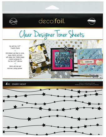 Deco Foil Clear Toner Sheets - Starry Night picture