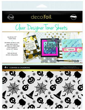 Deco Foil Clear Toner Sheets - Cobwebs & Cauldrons picture