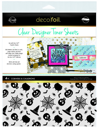 Deco Foil Clear Toner Sheets - Cobwebs & Cauldrons picture