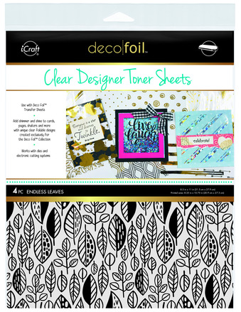 Deco Foil Clear Toner Sheets - Endless Leaves picture