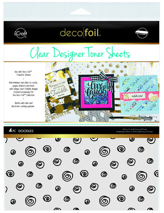 Deco Foil Clear Toner Sheets - Doodles picture