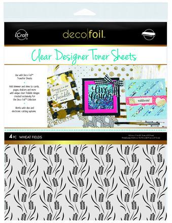Deco Foil Clear Toner Sheets - Wheat Fields picture