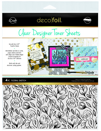 Deco Foil Clear Toner Sheets - Floral Sketch picture