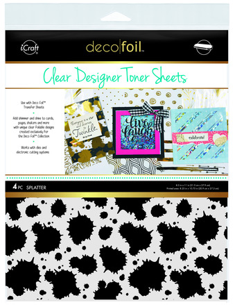 Deco Foil Clear Toner Sheets - Splatter picture