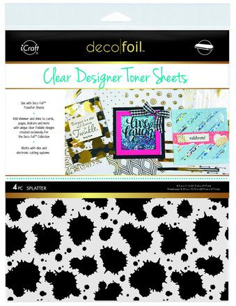 Deco Foil Clear Toner Sheets - Splatter picture