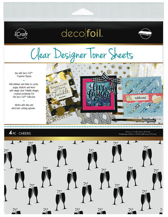 Deco Foil Clear Toner Sheets - Cheers picture