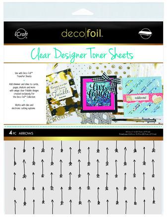 Deco Foil Clear Toner Sheets - Arrows picture