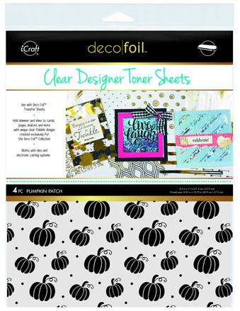 Deco Foil Clear Toner Sheets - Pumpkin Patch picture