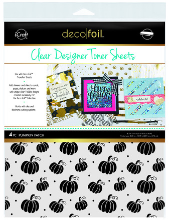 Deco Foil Clear Toner Sheets - Pumpkin Patch picture