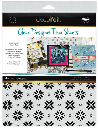 Deco Foil Clear Toner Sheets - Prim Poinsettia