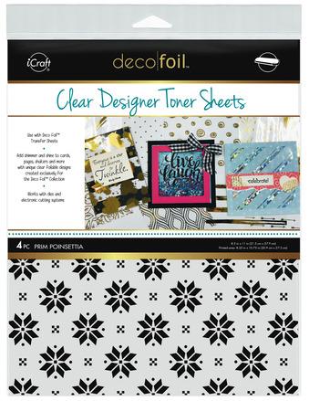 Deco Foil Clear Toner Sheets - Prim Poinsettia picture