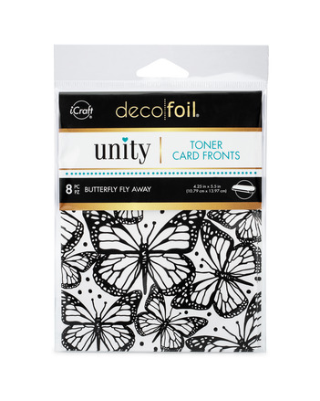 Deco Foil Toner Card Fronts By Unity, Butterfly Fly Away picture