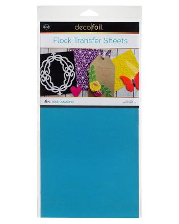 Deco Foil Flock Transfer Sheets – Blue Diamond picture
