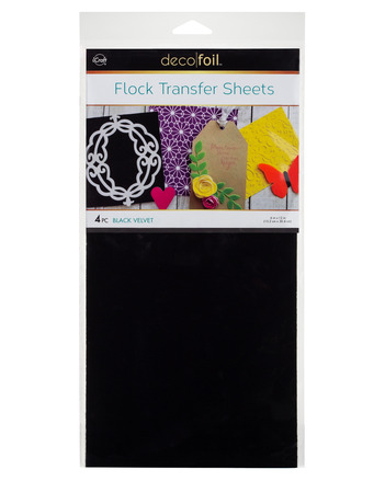 Deco Foil - 6 x 12 Flock Transfer Sheets Deco Foil - Black Velvet
