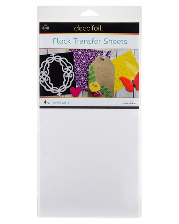 Deco Foil - 6 x 12 Flock Transfer Sheets Deco Foil - White Latte