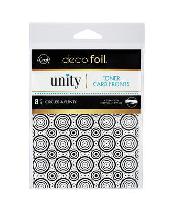 Deco Foil Toner Card Fronts By Unity, Circles A Plenty picture