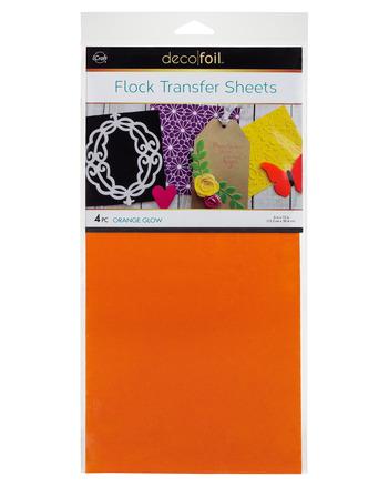 Deco Foil Flock Transfer Sheets – Orange Glow picture