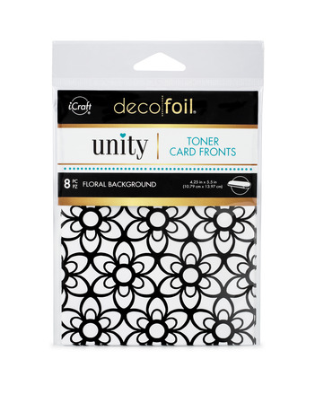 Deco Foil Toner Card Fronts By Unity, Floral Background picture