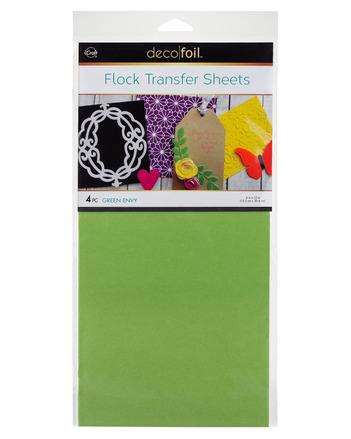 Deco Foil - 6 x 12 Flock Transfer Sheets Deco Foil - Green Envy