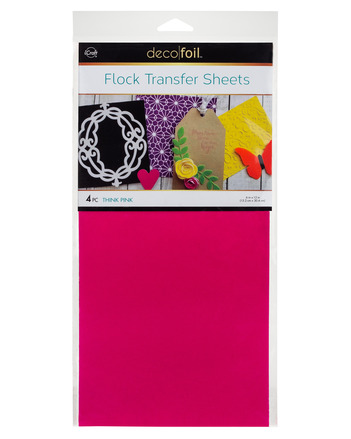 Deco Foil - 6 x 12 Flock Transfer Sheets Deco Foil - Think Pink