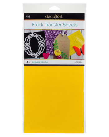 Deco Foil Flock Transfer Sheets – Sunshine Yellow picture