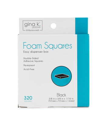 Gina K. Designs Foam Squares Black (320 squares) picture
