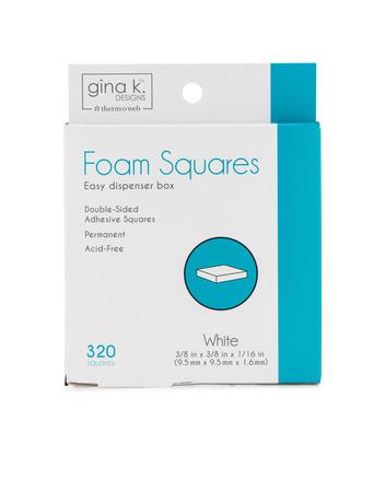 Gina K. Designs Foam Squares White (320 squares) picture