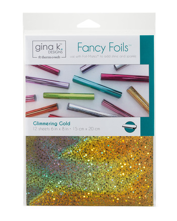 "Gina K. Designs Fancy Foils 6"" x 8"" - Glimmering Gold picture"