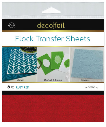 Deco Foil Flock Transfer Sheets – Ruby Red picture