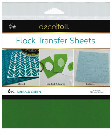 Deco Foil Flock Transfer Sheets – Emerald Green