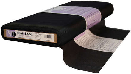 HeatnBond Tricot Fusible Medium Weight (Black 20 in. x By The Yard) picture