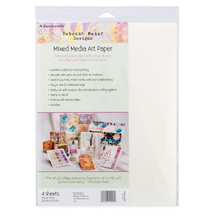 "Rebekah Meier Designs Mixed Media Art Paper 9"" x 12"" (4 sheets per pack) picture"